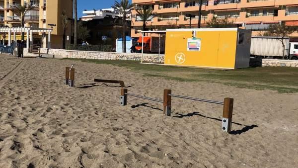 Fuengirola Fuengirola El Ayuntamiento de Fuengirola renueva los aparatos de cuatro áreas deportivas de las playas